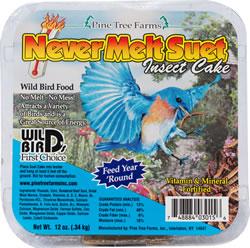 Pine Tree Farms Never Melt Insect Suet Cake Wild Bird Food, 12-oz
