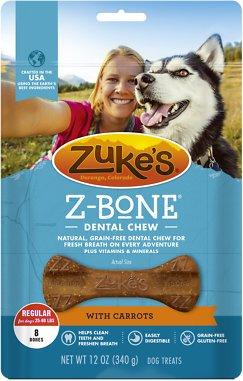 Zuke's Z-Bone with Carrots Dental Dog Treats
