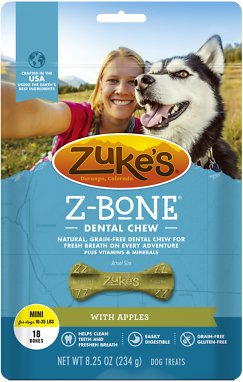 Zuke's Z-Bone with Apples Dental Dog Treats