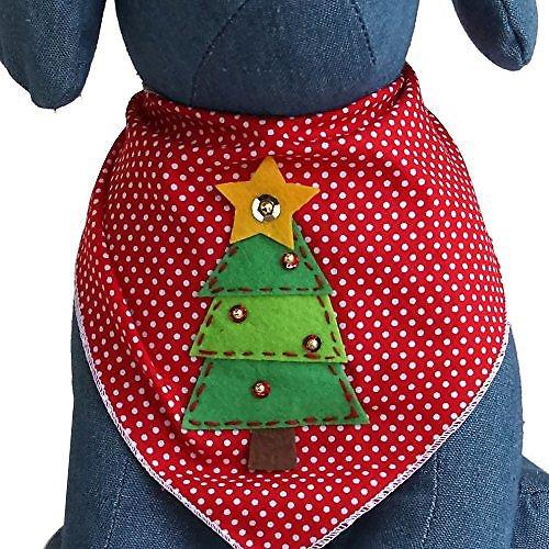 Tail Trends Christmas Tree Dog Bandana, Medium