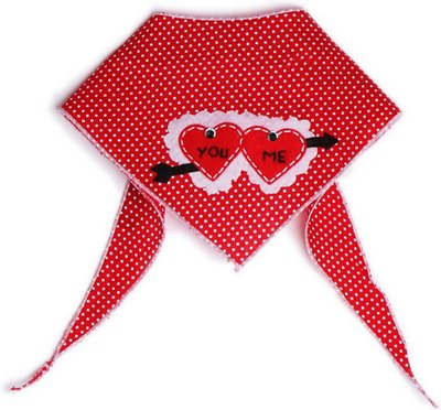 Tail Trends You and Me Cupid Hearts Dog Bandana
