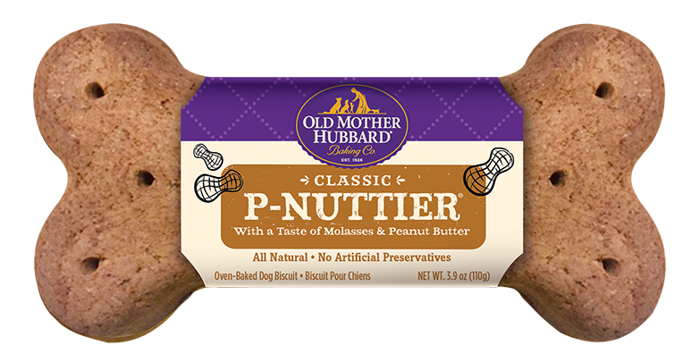 Old Mother Hubbard Classic Big Ol' Bone Dog Biscuit, P-Nuttier, 1 count
