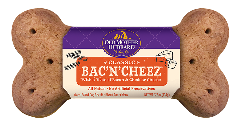 Old Mother Hubbard Classic Big Ol' Bone Dog Biscuit, Bac'n'Cheez, 1 count