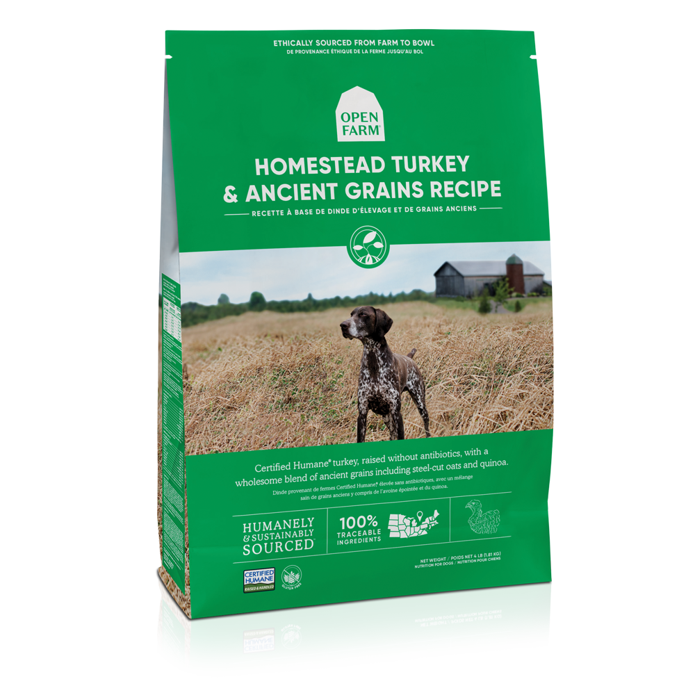 Open Farm Homestead Turkey & Ancient Grains Recipe Dry Dog Food, 22-lb bag