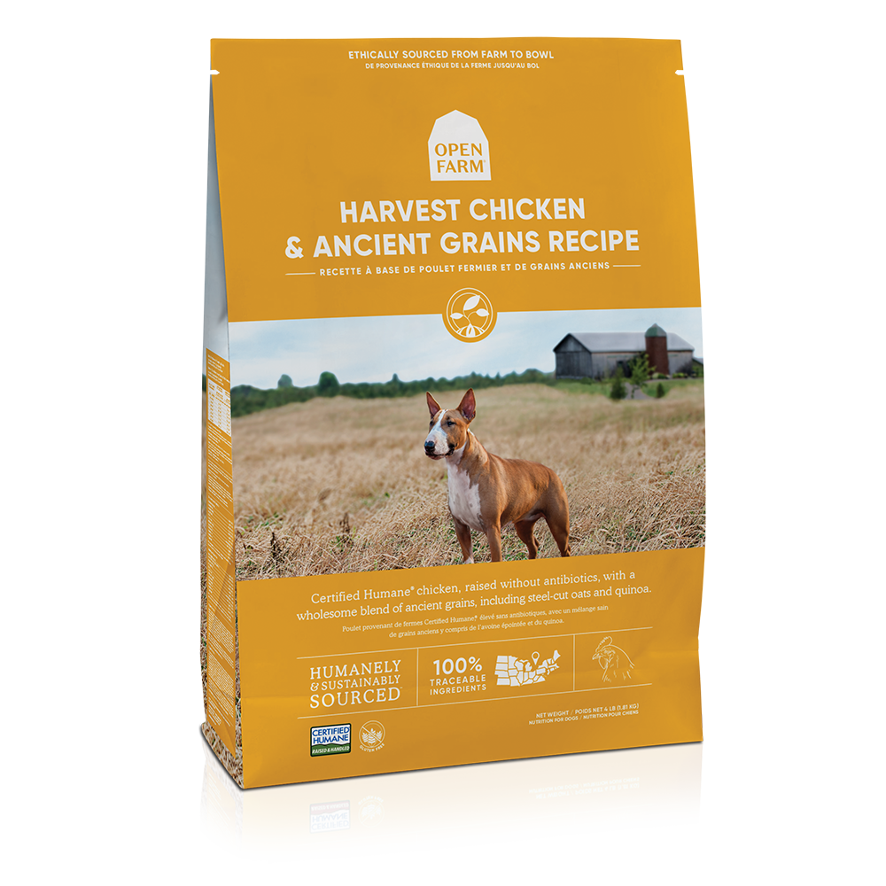 Open Farm Harvest Chicken & Ancient Grains Recipe Dry Dog Food, 22-lb bag