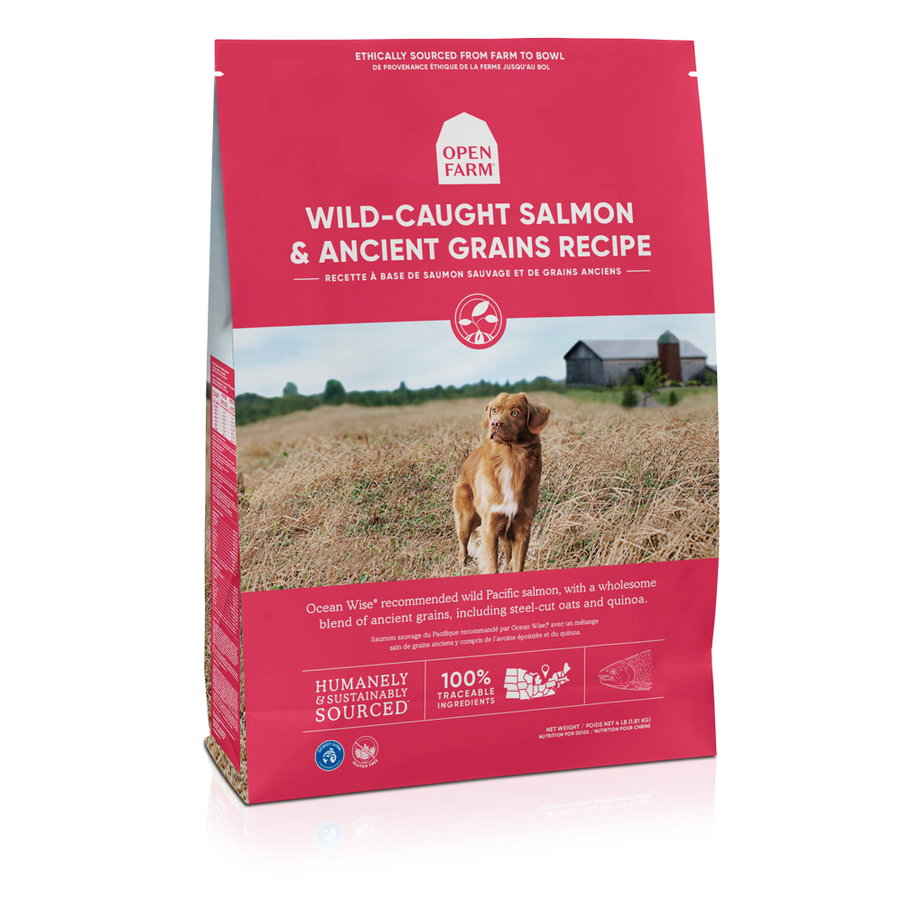 Open Farm Wild-Caught Salmon & Ancient Grains Recipe Dry Dog Food, 4-lb bag