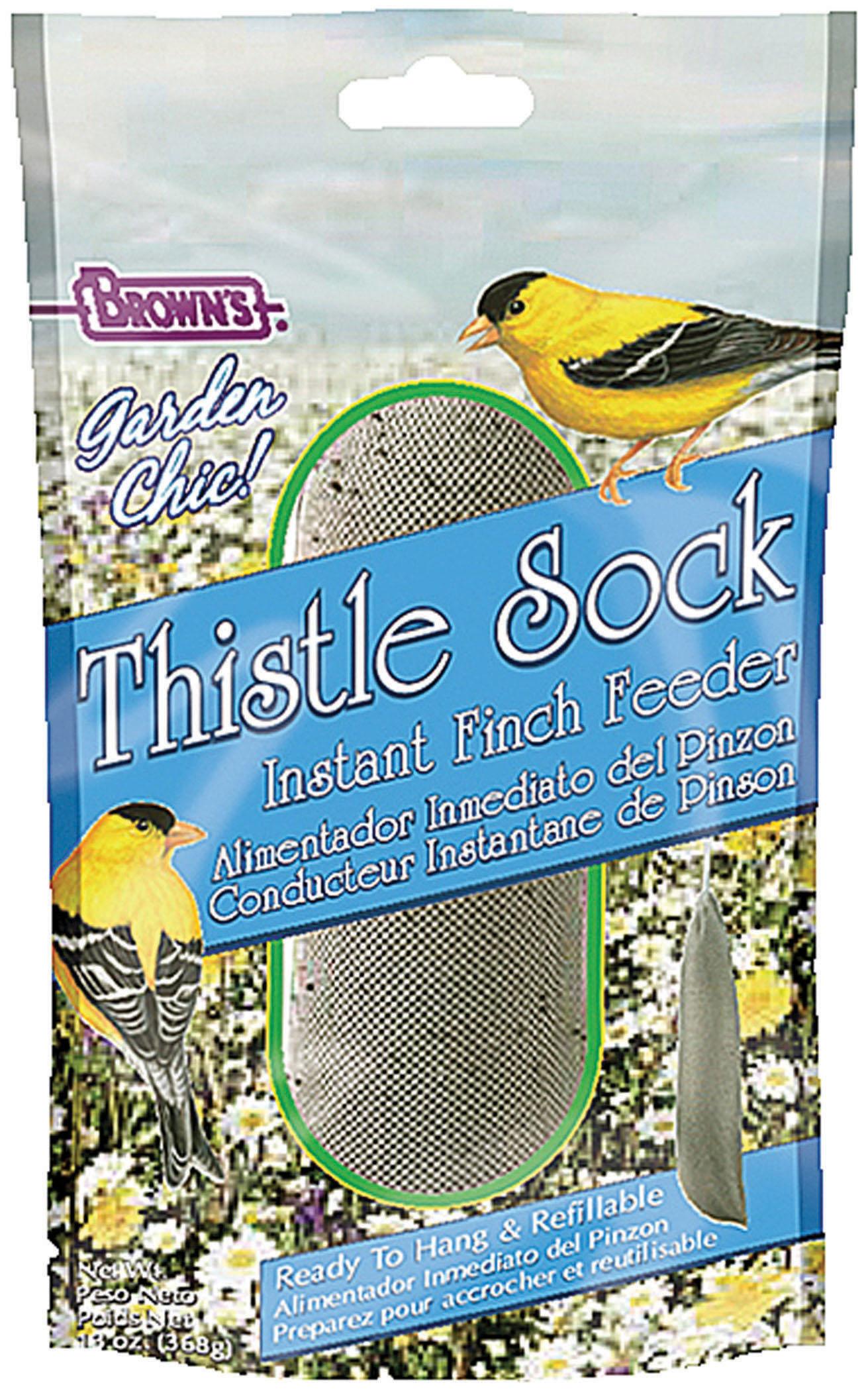 Brown's Garden Chic Thistle Sock Instant Finch Feeder, 13-oz