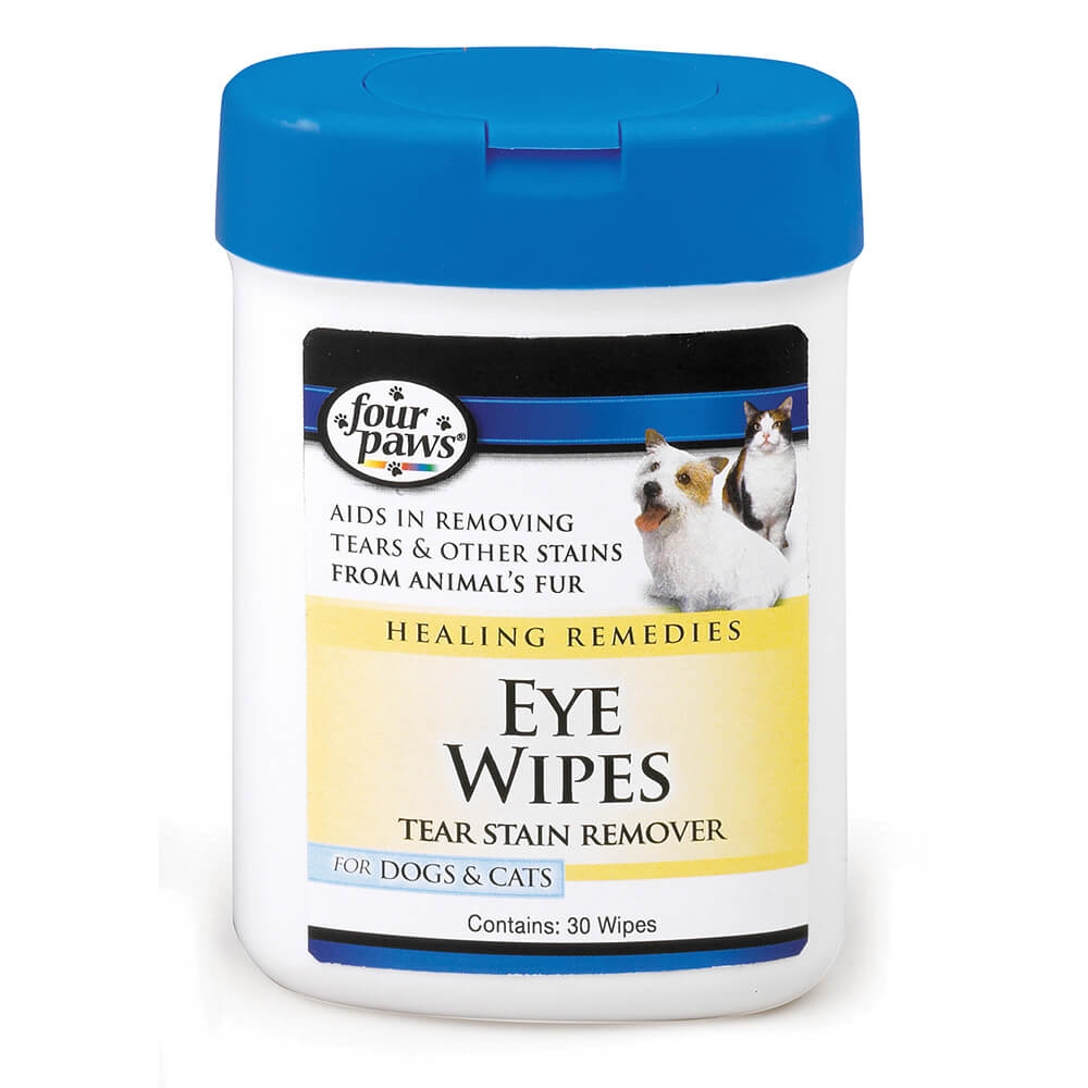 Four Paws Healing Remedies Tear Stain Remover Dog & Cat Eye Wipes, 25-count