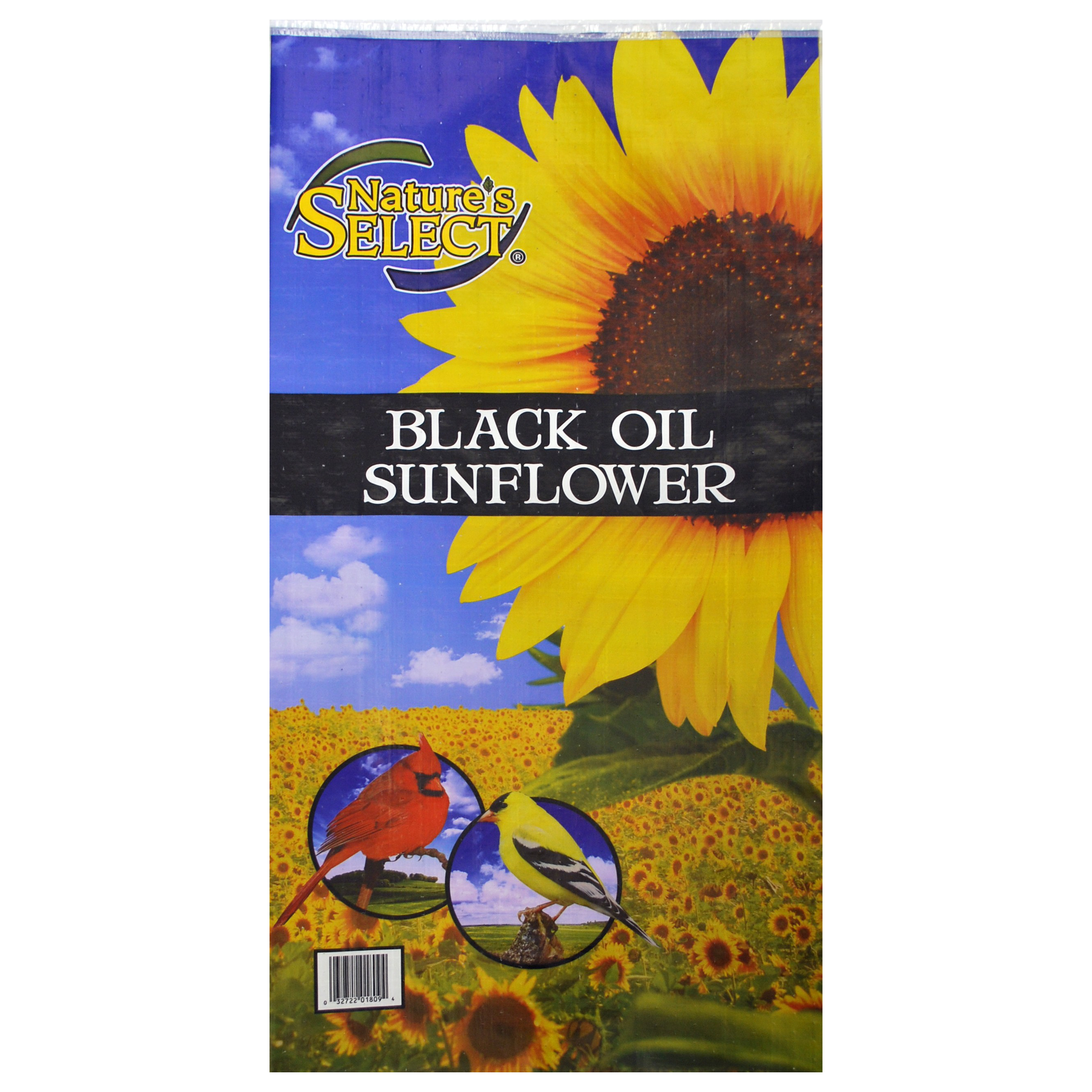 Nature's Select Black Oil Sunflower Seed Wild Bird Food, 20-lb