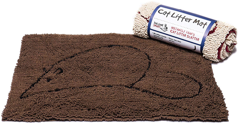 Dog Gone Smart Cat Litter Mat, Brown