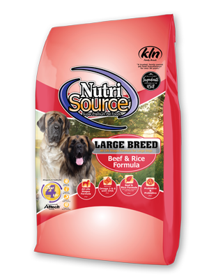 Nutrisource Beef & Rice Formula Large Breed Dry Dog Food, 30-lb
