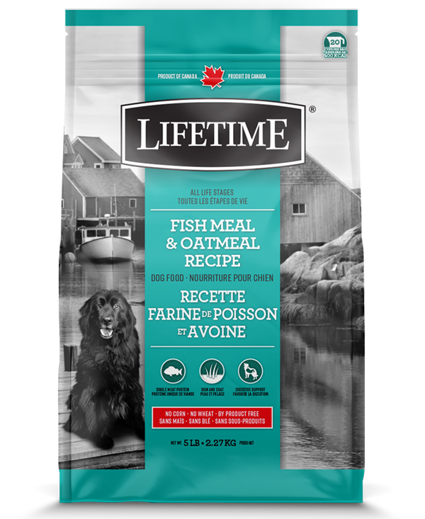 Lifetime Fish Meal & Oatmeal Recipe Dry Dog Food, 5-lb