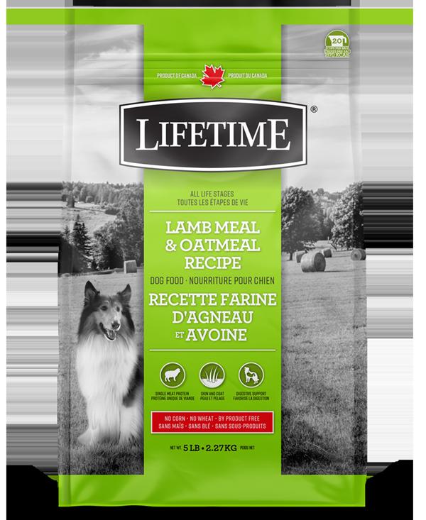 Lifetime Lamb Meal & Oatmeal Recipe Dry Dog Food, 5-lb