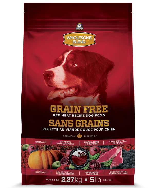 Wholesome Blend Red Meat Recipe Grain Free Dry Dog Food, 25-lb