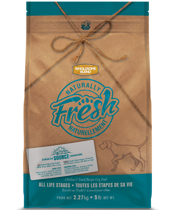 Wholesome Blend Fresh Chicken & Duck Recipe Dry Dog Food, 5-lb