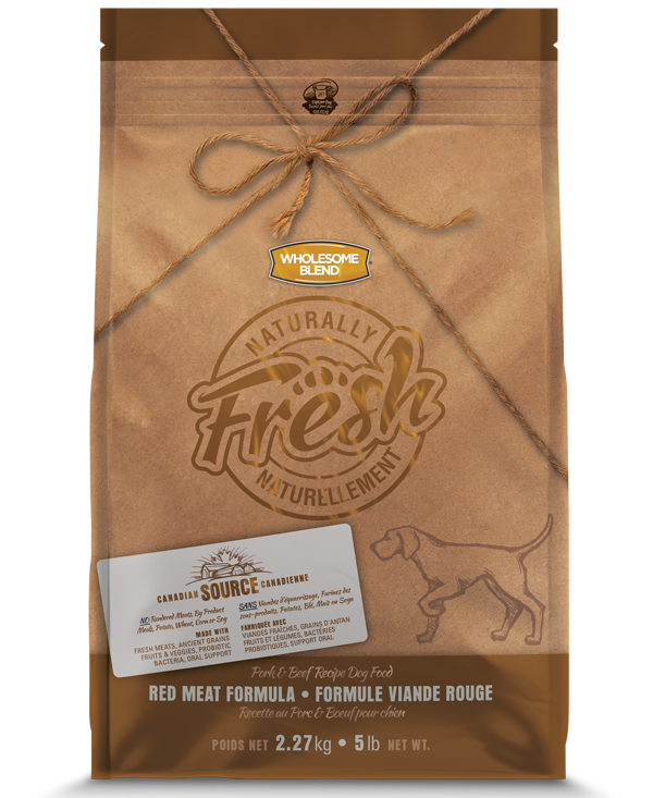 Wholesome Blend Fresh Pork & Beef Recipe Dry Dog Food, 5-lb
