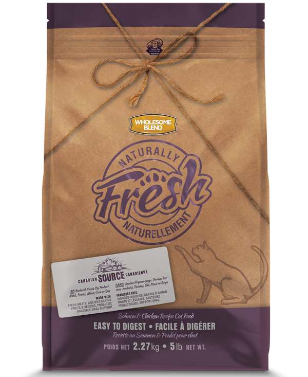 Wholesome Blend Fresh Salmon & Chicken Recipe Dry Cat Food, 5-lb