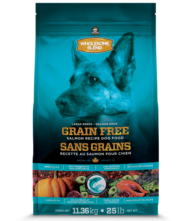 Wholesome Blend L.I.D. Salmon Recipe Large Breed Dry Dog Food, 25-lb