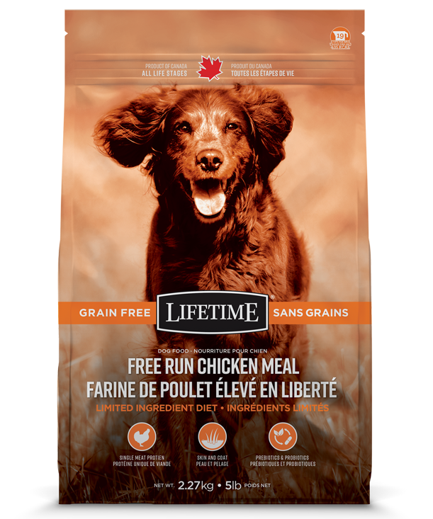 Lifetime Free Run Chicken Meal Grain Free Dry Dog Food, 25-lb