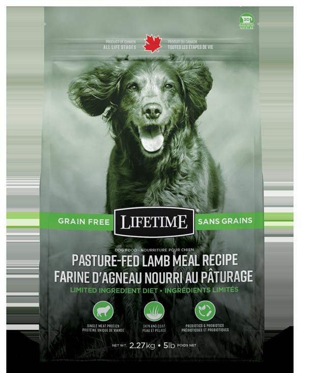 Lifetime Pasture-Fed Lamb Meal Recipe Grain Free Dry Dog Food, 25-lb