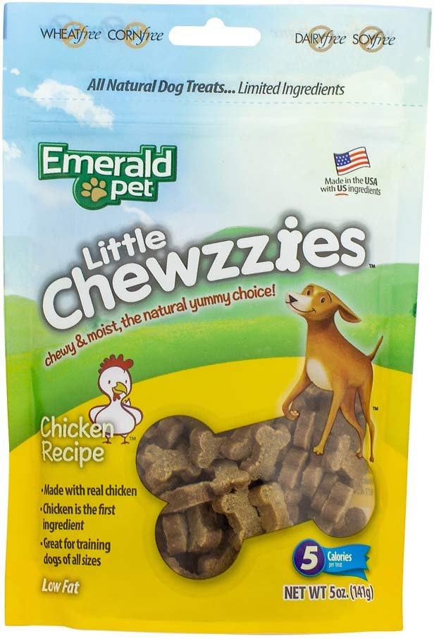 Emerald Pet Little Chewzzies Chicken Recipe Dog Treats, 5-oz bag