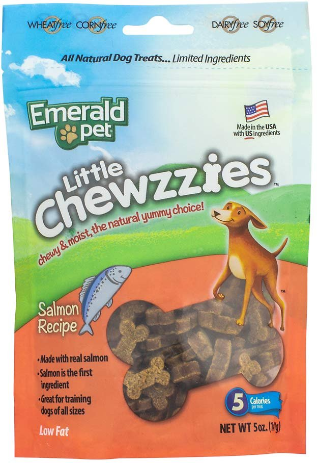 Emerald Pet Little Chewzzies Salmon Recipe Dog Treats, 5-oz bag