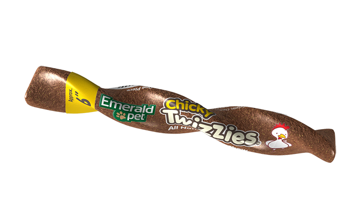 Emerald Twizzies 9'' Chicky Dog Treats, 30-count
