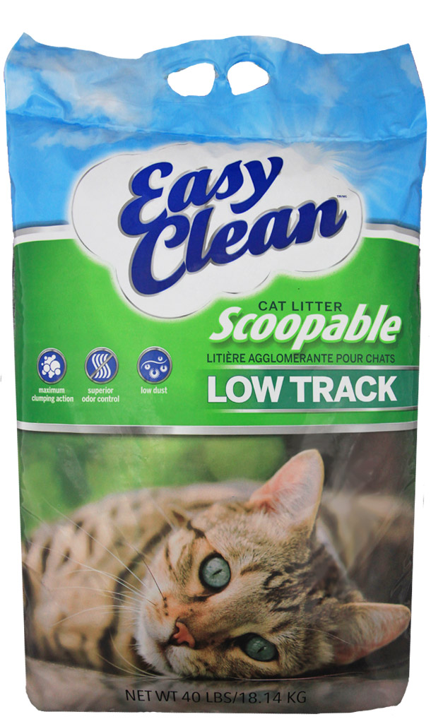 Pestell Easy Clean Low Track Scoopable Cat Litter. 40-lb