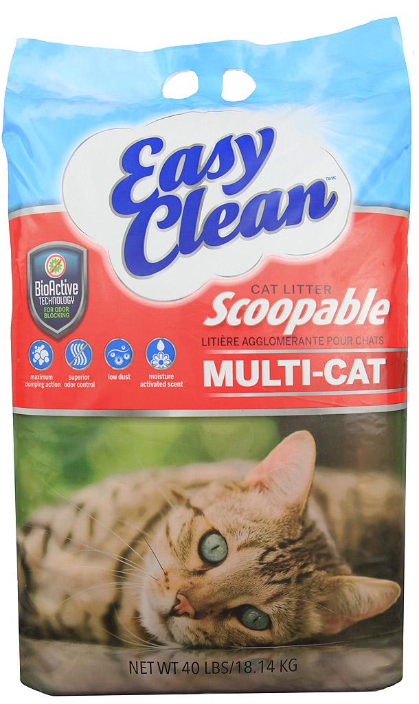 Pestell Easy Clean Multi-Cat Scoopable Cat Litter, 40-lb