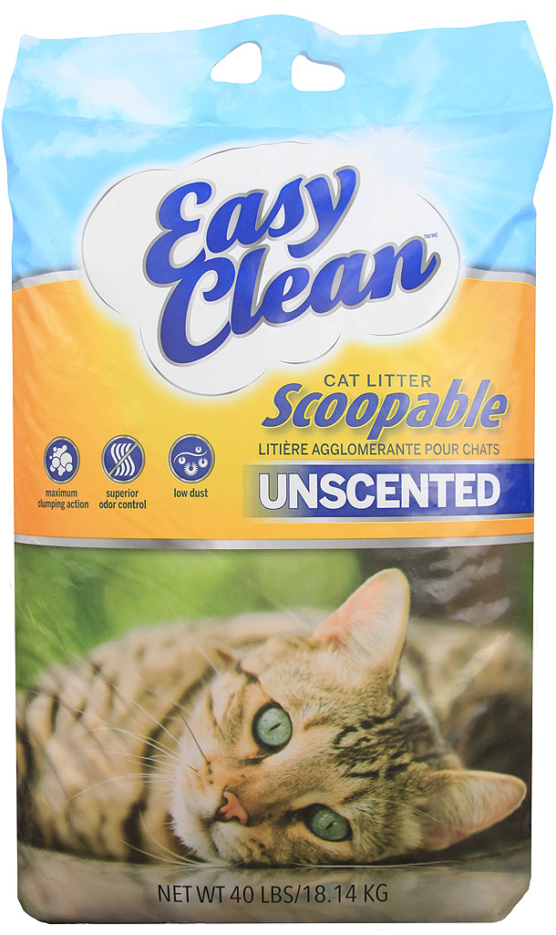 Pestell Easy Clean Unscented Scoopable Cat Litter, 20-lb