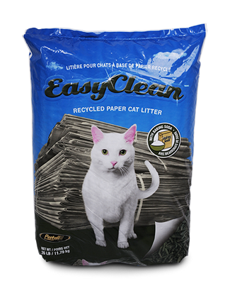 Pestell Easy Clean Recycled Paper Cat Litter, 26-lb