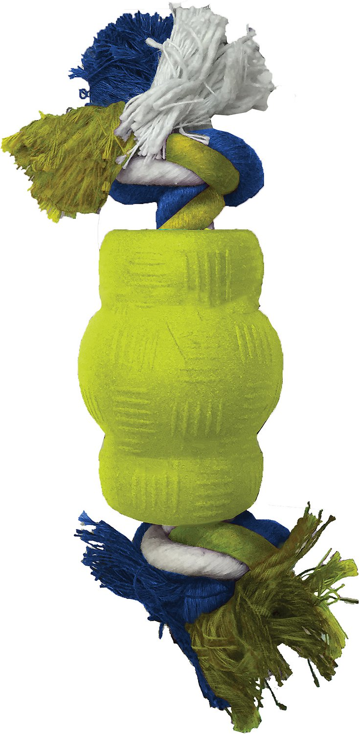 Ethical Pet Play Strong Foamz Chew & Rope Dog Toy, 2.75-in