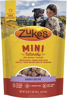 Zuke's Mini Naturals Rabbit Recipe Dog Treats