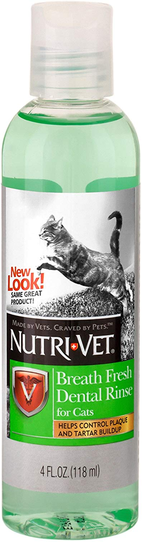Nutri-Vet Breath Fresh Dental Rinse for Cats, 4-oz