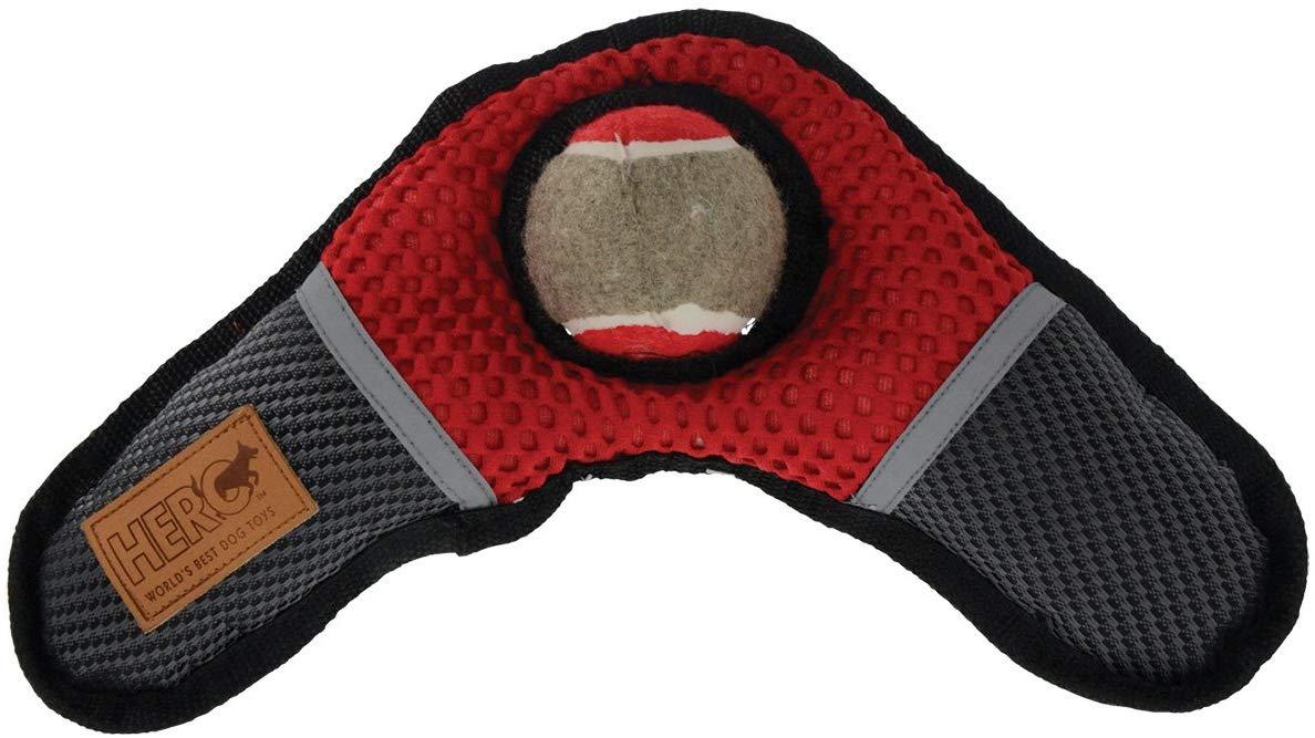 Hero Oxford Boomer Boomerang with Tennis Ball Dog Toy