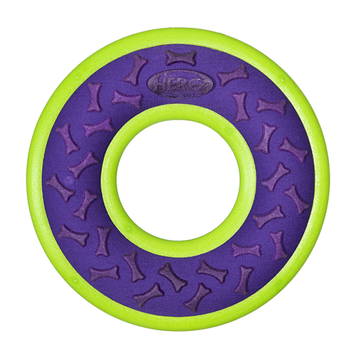 Hero Outer Armor Ring Dog Toy, Purple, Large