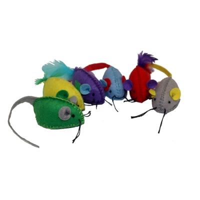 Multipet Stitch Mice Cat Toy, 6-pk
