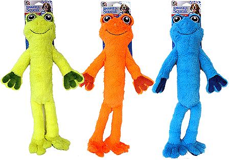 Pet Factory Shake & Squeak Frog Dog Toy