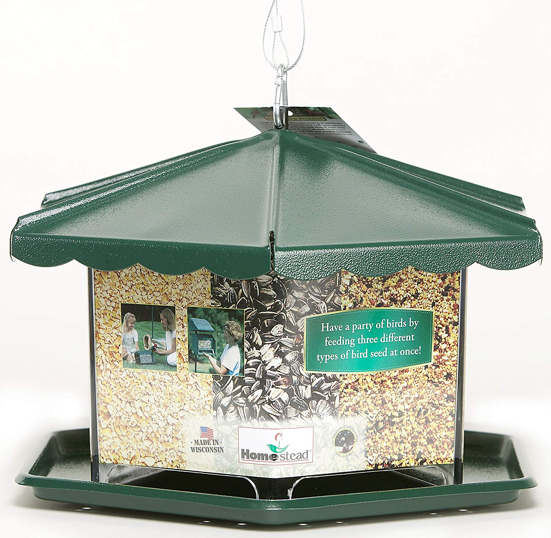 Homestead Triple Bin Party Bird Feeder