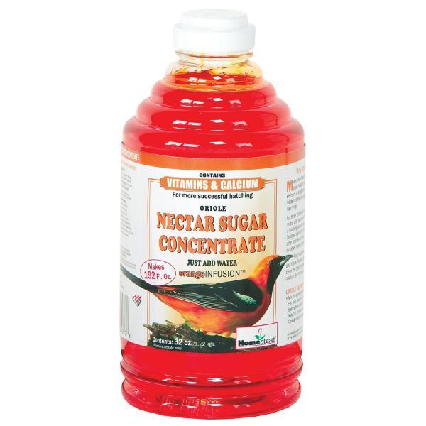 Homestead Oriole Nectar Sugar Concentrate, Orange, 32-oz