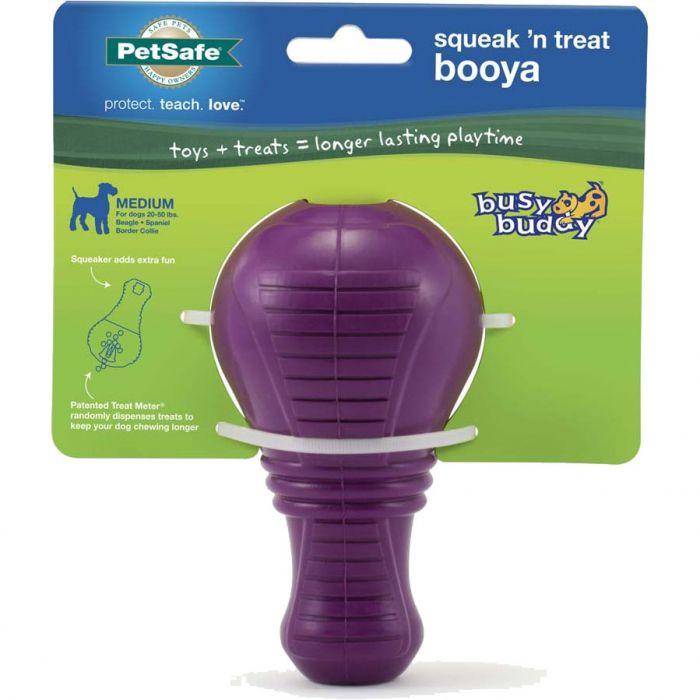 PetSafe Busy Buddy Squeak n' Treat Booya Dog Toy, Medium