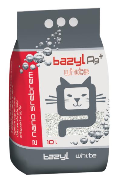 Bazyl Ag+ White Cat Litter, 5-l