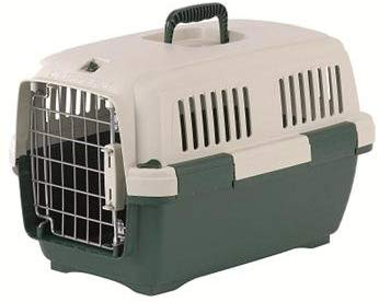 Marchioro Clipper Cayman Pet Carrier, Tan/Green, 19.5-in