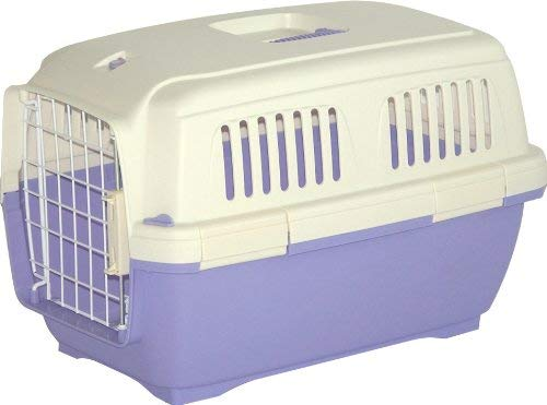 Marchioro Clipper Cayman Pet Carrier, Tan/Light Violet, 25-in