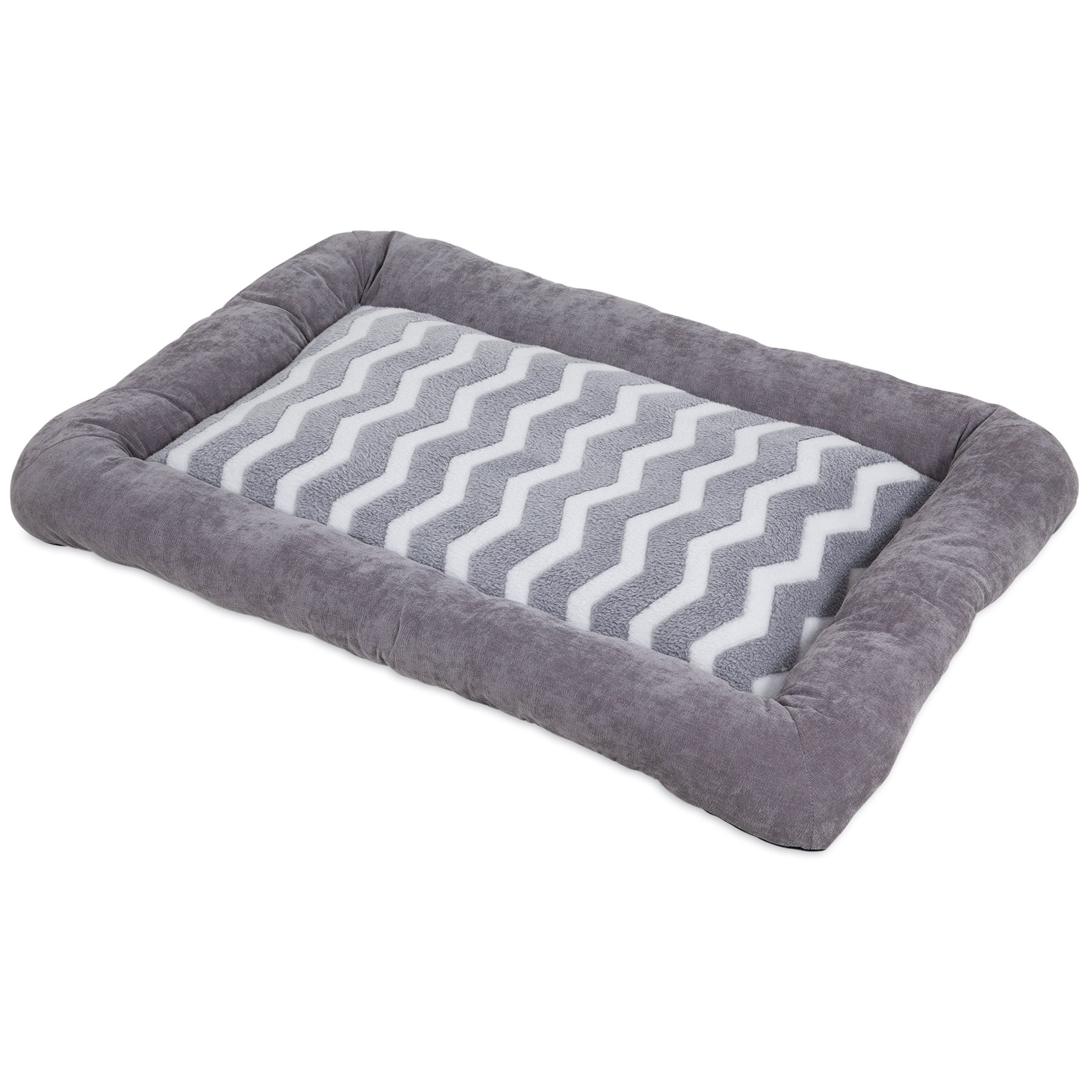 Precision Pet SnooZZy Zig Zag Low Bumper Kennel Pet Mat, Gray, X-Small