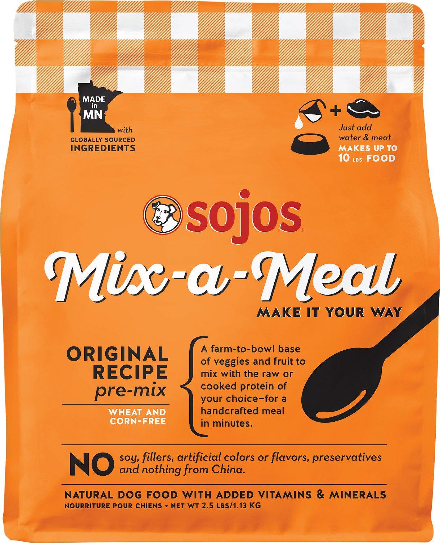 Sojos Dog Food Mix-a-Meal Original Pre-Mix, 2.5-lb