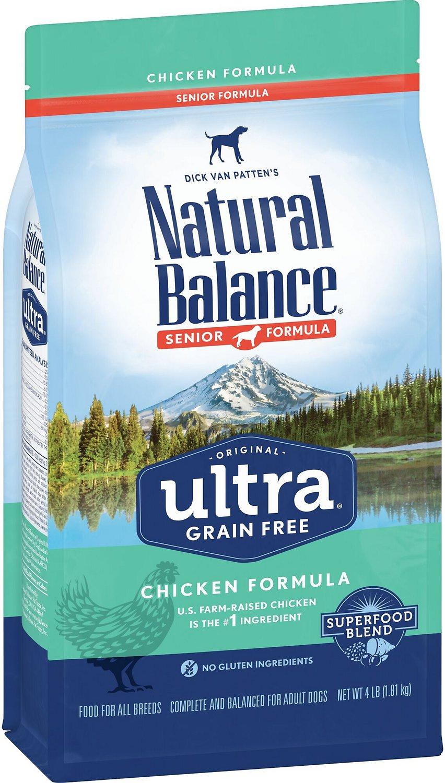 Natural Balance Original Ultra Senior Formula Chicken Formula Grain-Free Dry Dog Food, 4-lb