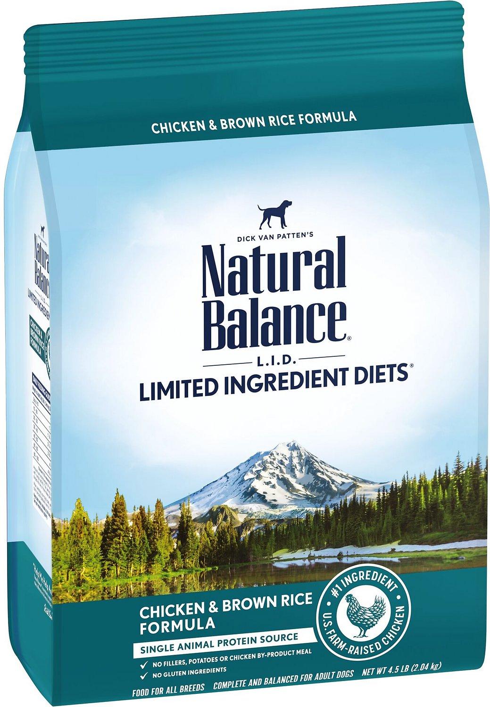 Natural Balance L.I.D. Limited Ingredient Diets Chicken & Brown Rice Formula Dry Dog Food, 4.5-lb