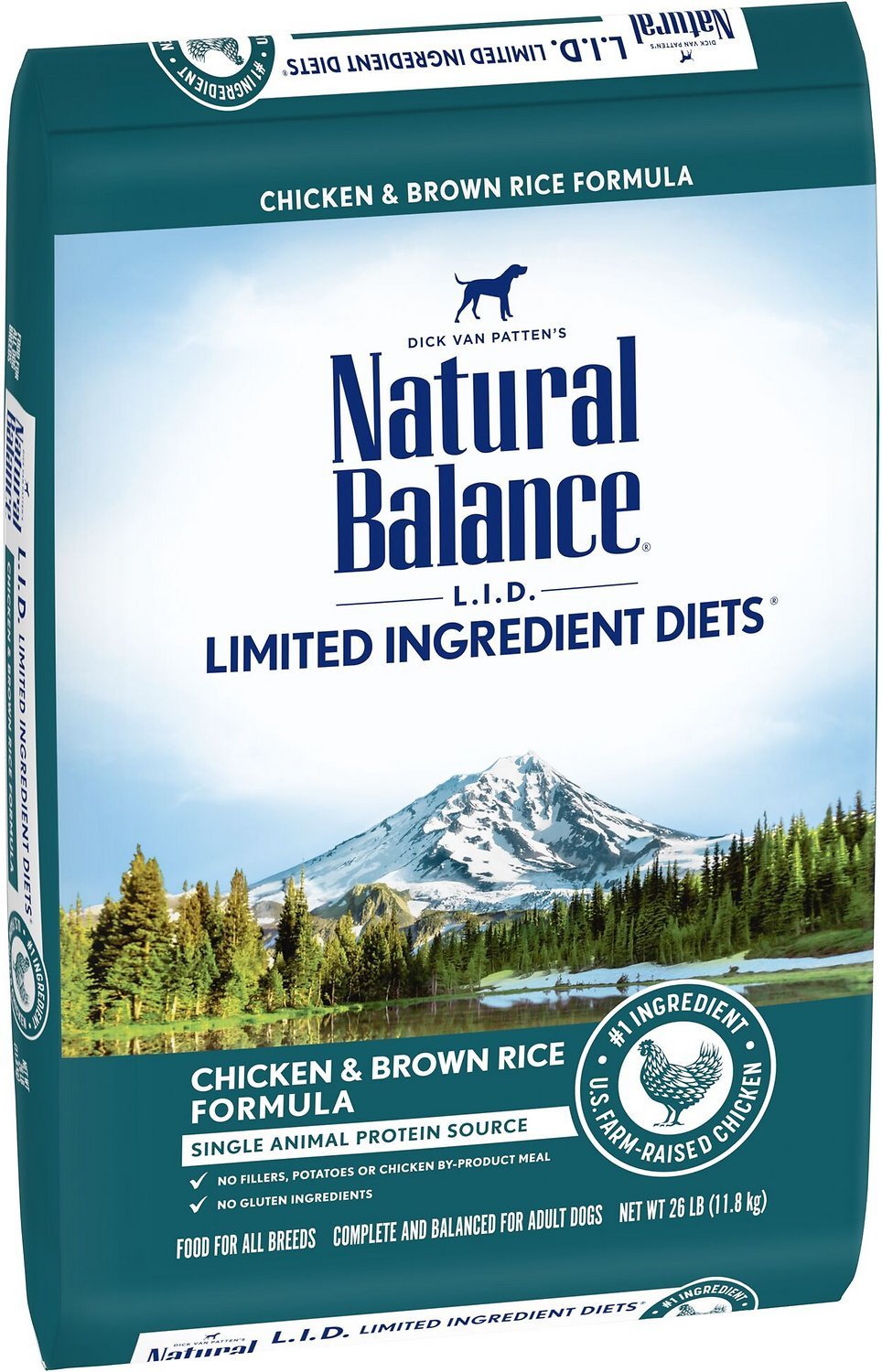 Natural Balance L.I.D. Limited Ingredient Diets Chicken & Brown Rice Formula Dry Dog Food, 26-lb