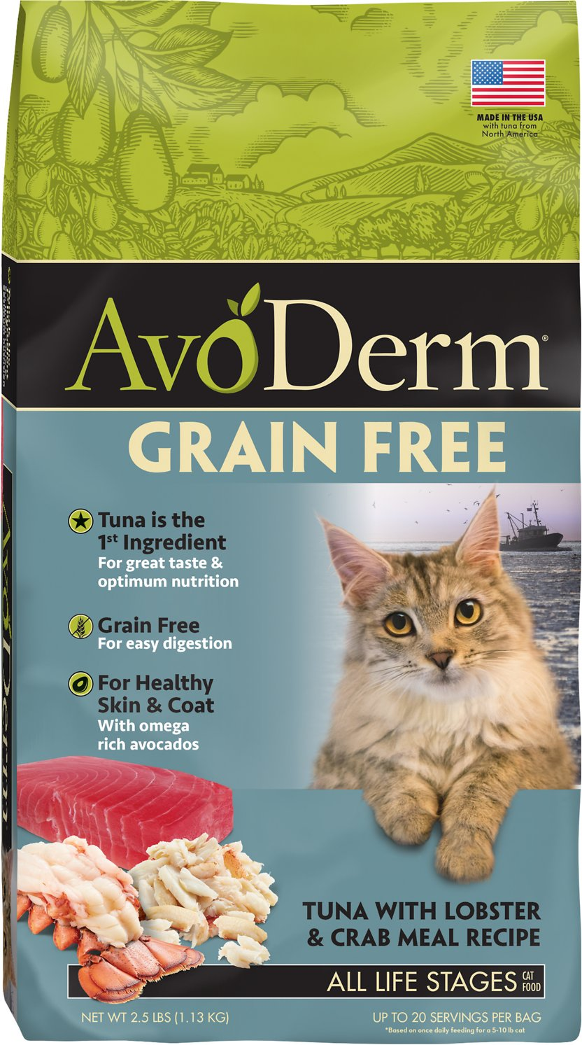 AvoDerm Grain-Free Tuna with Lobster & Crab Meal Dry Cat Food, 2.5-lb